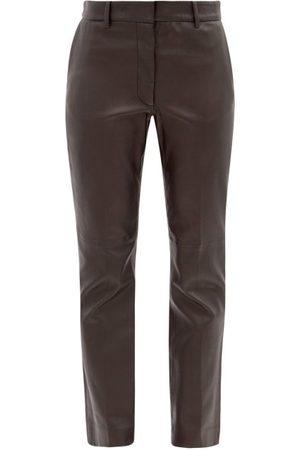 Joseph Women Leather Pants - Coleman Leather Straight-leg Trousers - Womens