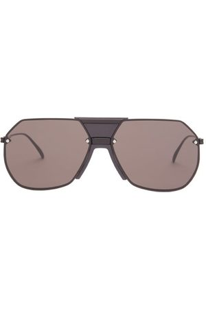 Bottega Veneta Aviator Metal Sunglasses - Mens