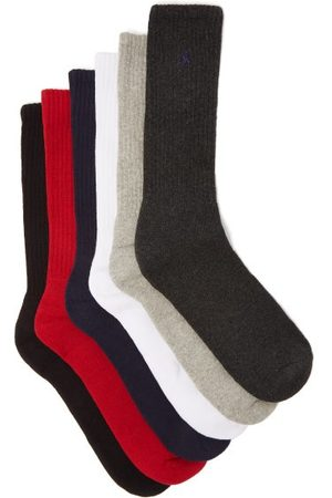 Polo Ralph Lauren Pack Of Six Logo-embroidered Socks - Mens - Multi