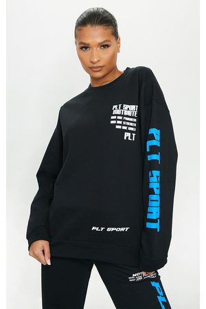 PRETTYLITTLETHING Women Hoodies - Sports Oversized Sweatshirt
