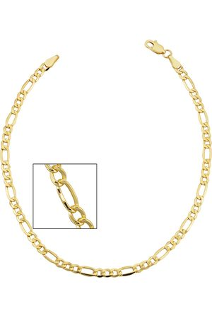 SuperJeweler 14K (3.30 g) 3.3mm Figaro Chain Bracelet