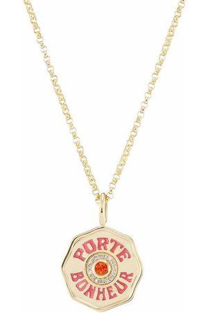 Marlo Laz Mini Porte Bonheur Sapphire and Diamonds Necklace
