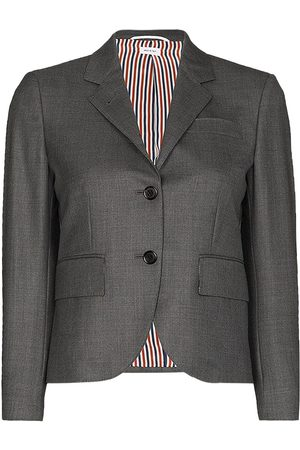 Thom Browne Classic Single Breasted Sport Coat In Super 120'S Twill - Grey
