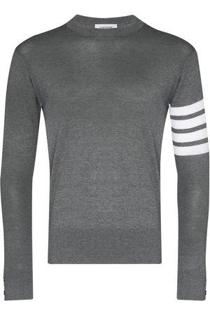 Thom Browne Men Sweaters - 4-Bar Merino Pullover - Grey