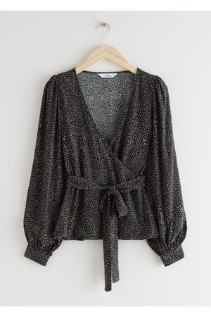 & OTHER STORIES Relaxed Sleeve Wrap Top