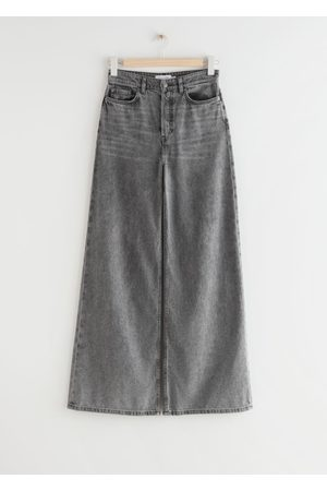 & OTHER STORIES Wide High Waist Jeans - Grey