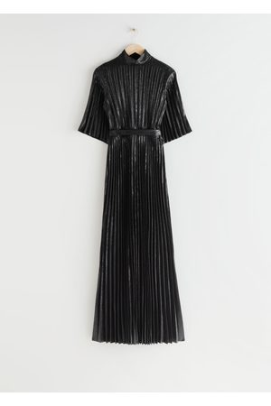 & OTHER STORIES Belted Pleated Maxi Dress