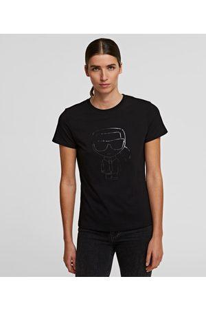 Karl Lagerfeld Women T-shirts - K/IKONIK METALLIC OUTLINE T-SHIRT