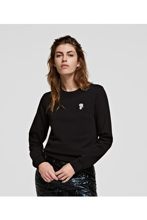 Karl Lagerfeld Women Sweatshirts - K/IKONIK METALLIC PATCH SWEATSHIRT