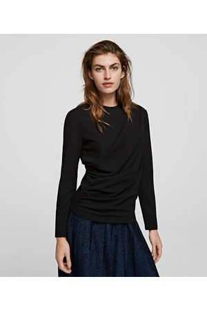Karl Lagerfeld DRAPED-FRONT TOP