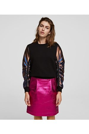 Karl Lagerfeld METALLIC SLEEVE SWEATSHIRT