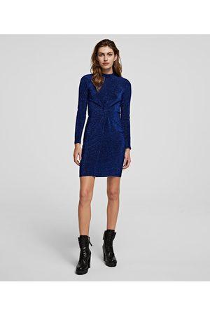 Karl Lagerfeld SPARKLE TWIST-FRONT DRESS