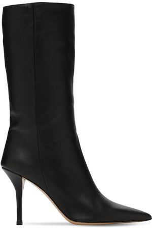 GIA 85mm Mid High Leather Boots