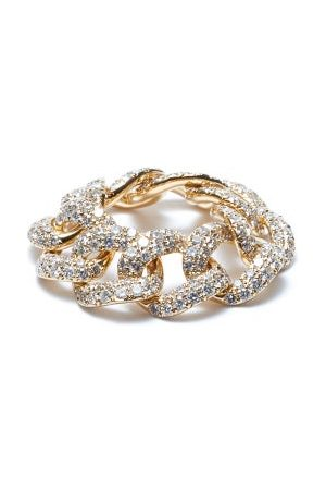 Shay Diamond & 18kt Chain-link Ring - Womens