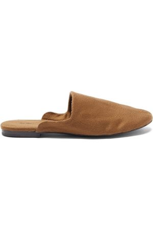 The Row Women Loafers - Granpa Cashmere Backless Loafers - Womens - Camel
