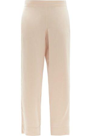 Asceno London Sandwashed-silk Pyjama Trousers - Womens - Nude