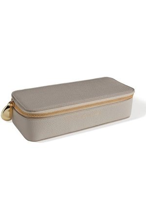 Monica Vinader Personalised Large Leather Trinket Box with dustbag