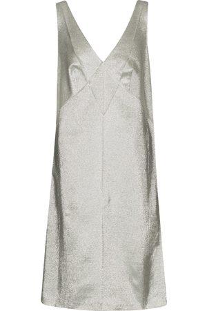 Marc Jacobs Gabardine and lamé minidress