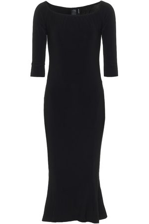 Norma Kamali Off-shoulder stretch-jersey midi dress