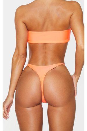 adidas Coral Mix & Match Thong Bikini Bottoms