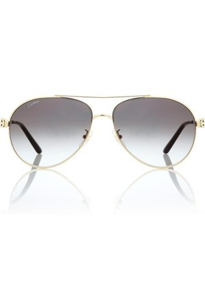 CARTIER EYEWEAR Panthère de Cartier aviator sunglasses
