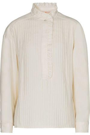 Tory Burch Pleated satin blouse