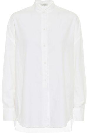 Vince Cotton-blend poplin shirt