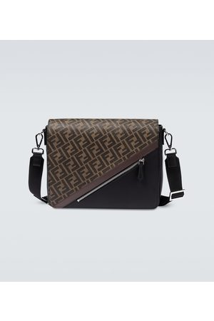 Fendi FF messenger leather bag