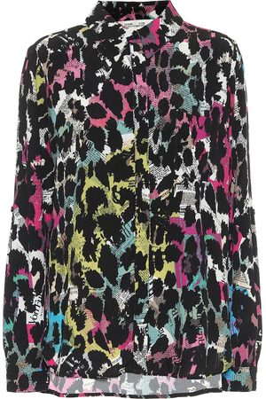 Diane von Furstenberg Lorelei printed crêpe shirt
