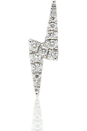 Maria Tash Women Earrings - Lightning Bolt 14kt white gold single earring with diamonds