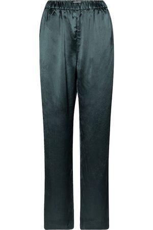 CO High-rise wide-leg satin pants