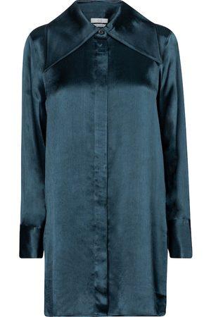 CO Oversized textured satin blouse