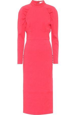 Rebecca Vallance Martini textured crêpe midi dress