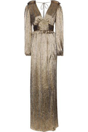 Rebecca Vallance Rivero metallic maxi dress