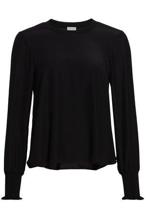 Cinq A Sept Women's Lina Puff-Sleeve Silk Top - - Size Medium