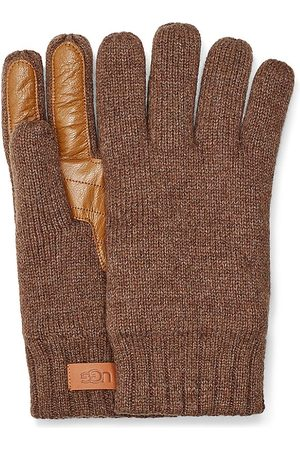 UGG Men's Palm Patch Leather & Knit Gloves - - Size Large/XL
