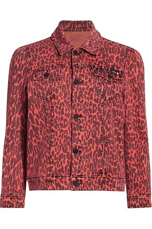 Mother Women's The Puffy Bruiser Leopard Jacket - - Size Small