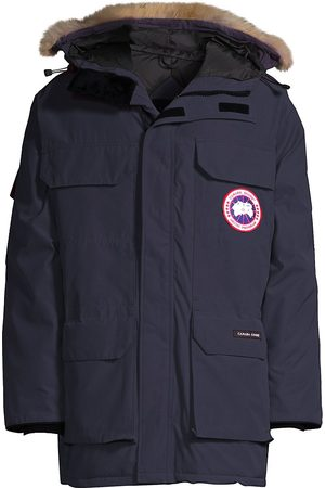 Canada Goose Men's Expedition Coyote Fur-Trim Down Parka - - Size XL