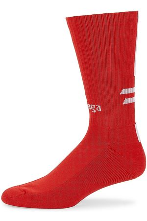 Balenciaga Men Socks - Men's Logo Soccer Socks - - Size Large