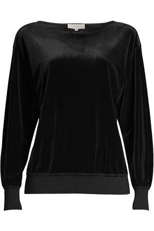 Lafayette 148 New York Women's Coralie Velour Top - - Size XS