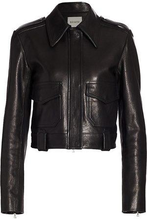 Khaite Women's Cordelia Moto Leather Jacket - - Size 4