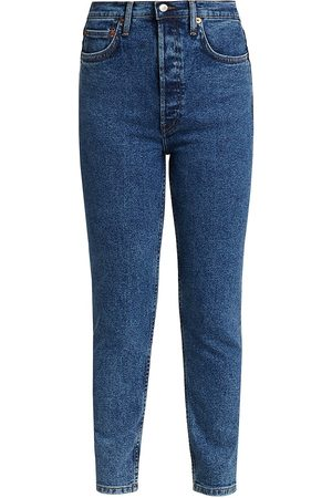 RE/DONE Women's High-Rise Ankle Cropped Jeans - - Size 31 (10)