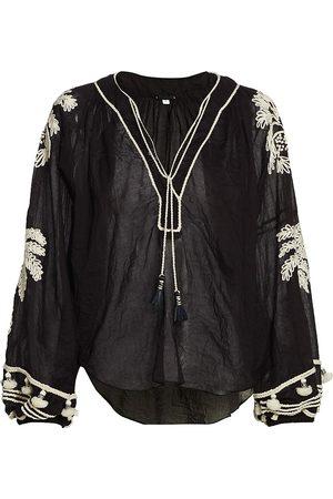 JOHANNA ORTIZ Women's Cursos Del Rio Embroidered Tunic - - Size 8