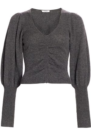 Frame Women's Shirred Cropped Sweater - - Size XS