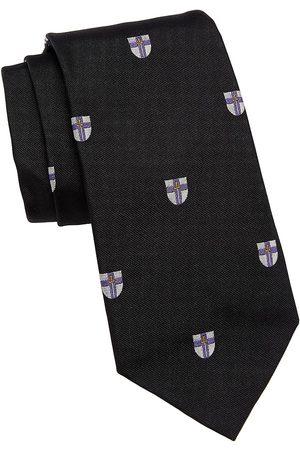 Ralph Lauren Men's Crest Embroidered Silk Tie