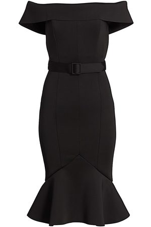 Badgley Mischka Women Strapless Dresses - Off-the-Shoulder Scuba Dress