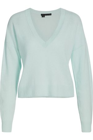 360CASHMERE Women's Alexandria V-Neck Cashmere Sweater - - Size Small
