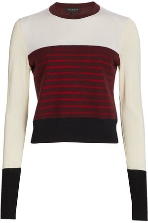 RAG&BONE Women's Marissa Contrast Stripe Sweater - - Size XL