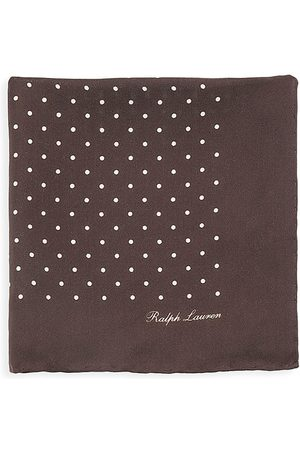 Ralph Lauren Men's Polka Dot Silk Pocket Square