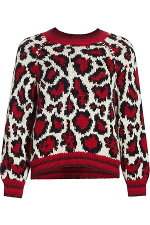 Mother Women's The Boat Square Leopard Pullover - - Size Small